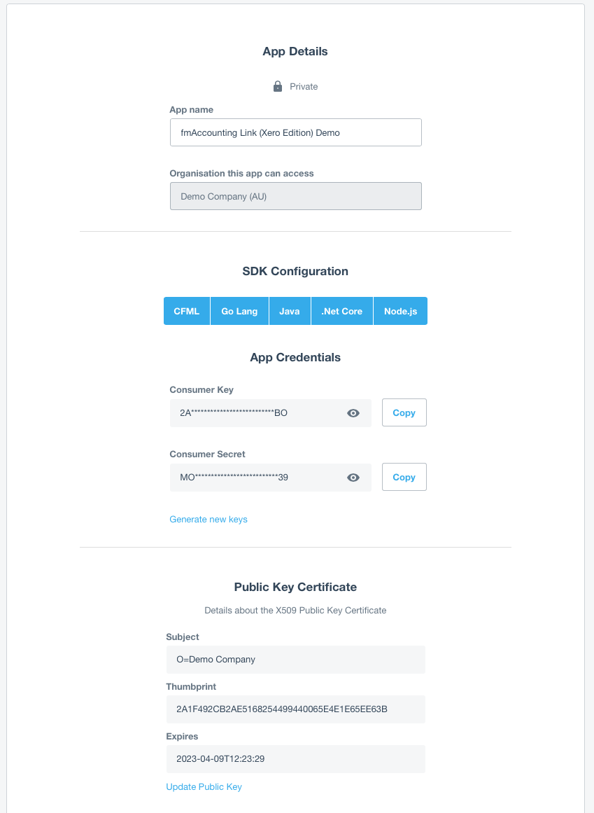 Fmaccounting link xero edition integration instructions databuzz make a note of the consumer key as you will need to paste this back into the consumer key field in the organisations screen once you have completed these 1betcityfo Gallery